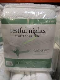 costco mattress cover. Contemporary Costco Restful Nights Mattress Pad Twin XL In Costco Cover C