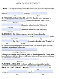 residential sublease agreement template. free sublet lease agreement template free arkansas sublease