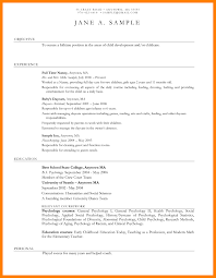 Resume Sample For A Teacher With No Experience Best Daycare Resume ...
