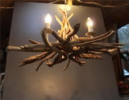 simple driftwood pendant light chandelier chandeliers wood lamps