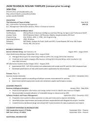 Jsom Resume Template JSOM TECHNICAL RESUME TEMPLATE Remove Prior To Using John Doe 2
