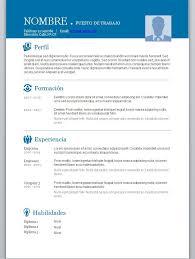 Modelos De Curriculum Vitae En Word Para Completar Modelos