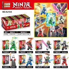 Đồ chơi lắp ráp Non Lego Ninjago Season Phần 12 HJ 104 Trọn bộ 8 hộp Xếp Mô  Hình Ninja Lloyd Cole Jay Kai Unagami Scott