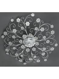 wrought iron ceiling light silver leaf and porcelain 8 lights pre pl 165 90p