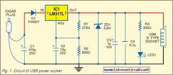 how to build usb power socket indicator circuit diagram usb power socket indicator circuit diagram