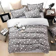 white duvet cover king sets classic bedding set 3 size grey blue flower bed linens cotton