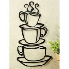 amazon super z outlet black coffee cup silhouette metal wall art for home decoration java shops restaurants gifts home kitchen on black metal wall art amazon with amazon super z outlet black coffee cup silhouette metal wall