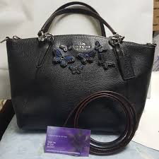 NWT Coach small kelsey satchel in butterfly