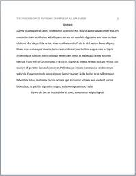 Lit Review Example Apa Literature Review Abstract Example Apa