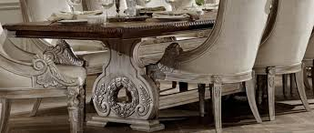 white washed dining room furniture. Wonderful Washed Orleans II White Wash Extendable Trestle Dining Table From Homelegance  2168WW118  Coleman Furniture With Washed Room W