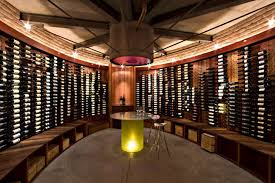 jones studio s underground brick wine house is a spectacular low impact space for reds and whites