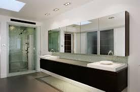 Bathroom: Contemporary Bathrooms Design With Brown Floor Tiles And ...