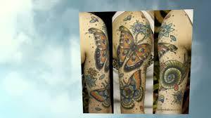 татуировки с бабочками 3d
