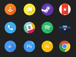 Material Design Iconography Free Set Of Circular Material Design Icons