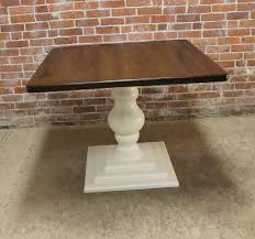 40 inch round pedestal dining table: select options middot  inch square table with tiered tuscany pedestal base