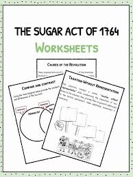 Compare American And French Revolution Venn Diagram The Sugar Act Of 1764 Facts Information Worksheets For