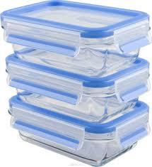 "<b>Набор контейнеров</b> Emsa ""<b>Clip&Close Glass</b>"", цвет: синий ..."