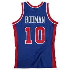 Details About Detroit Pistons Dennis Rodman Hardwood Classics Road Swingman Jersey Shirt Mens