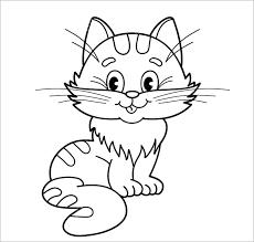Tranh tô màu con mèo đẹp, dễ thương và đáng yêu cho bé