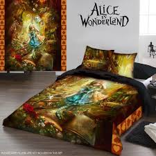 alice in wonderland gothic king size duvet cover set us queen size