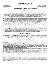 Free Sample Resume Process Engineer