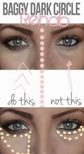 how to hide dark eye circles without