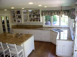 White Kitchen With Granite Counters White Cabinet Tan Granite Attractive Personalised Home Design