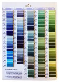 Tintex Colour Chart Dmc Colour Card Contains Real Thread Embroidery Floss
