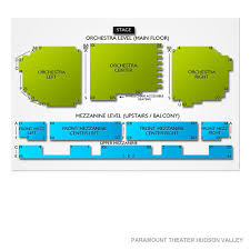 Paramount Theater Asbury Park Detailed Seating Chart Paramount Hudson Valley Theater 2019 Seating Chart