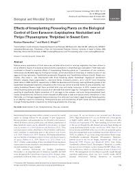 Effects of Interplanting Flowering Plants on the Biological ...