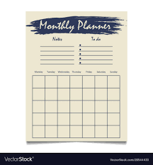 Monthly Planner Free Download Monthly Planner Template Printable Meal Organization In Word