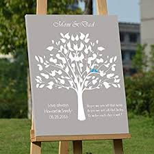 Amazonde Personalisierte Hochzeit Custom Wedding Tree Gästebuch