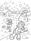Зима расскраски