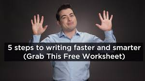 how to write fast simple steps to writing smarter how to write fast 5 simple steps to writing smarter