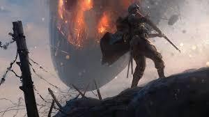 Kunstwerk Airship on Fire   Battlefield 1   DICE