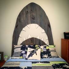 Shark Decorations For Bedroom Custom Shark Pallet Headboard By Hoeller Designs Pallet