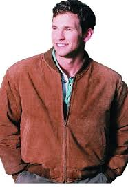 reed men s baseball suede leather jacket imported