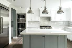 backsplash with white cabinets and grey countertop white kitchen with grey island what color backsplash with