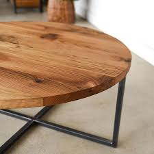 modern round coffee table reclaimed