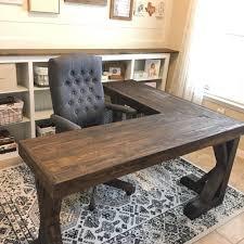 diy desk ideas. Modren Ideas Sturdy Wood Desk In An L Shape For Diy Ideas M