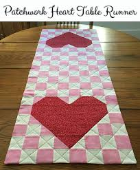 28 Free Quilted Table Runners Pattern | Guide Patterns & Valentine Quilted Table Runner Adamdwight.com
