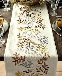 crate barrel and tablecloth linden thanksgiving table runners for your about us crate and barrel tablecloth weights