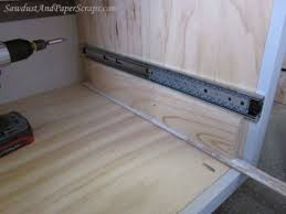 Cabinet Drawer Rails How To Install Cabinet Drawer Glides
