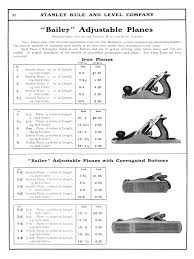 Stanley Plane Size Chart Stanley 1902 Catalog Handplane Central