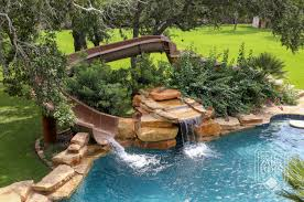 inground pools with waterfalls and slides. This Swimming Pool With Slide And Waterfall Would Look Amazing In The Backyard! | San Antonio Custom Pools Keith Zars Inground Waterfalls Slides M