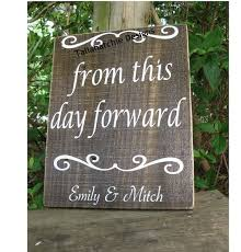 from this day forward wooden wedding sign by tatchiedesigns