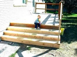 prefab premade outdoor stairs with landing exterior