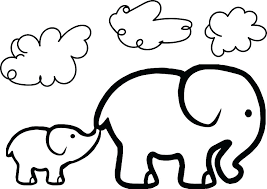 coloring pages of elephants elephant color page and medium size pictures baby coloring pages of elephants
