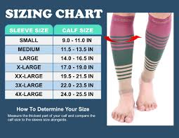 Doc Miller Size Chart Doc Miller Premium Calf Compression Sleeve 1 Pair 20 30mmhg Strong Calf Support Graduated Pressure Sports Running Recovery Shin Splints Varicose Veins