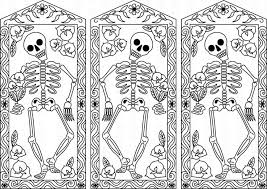 Small Picture day of the dead coloring pages printable free Color Your Own Day